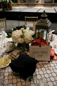 Table Setting From Writers Hall of Fame Dinner
